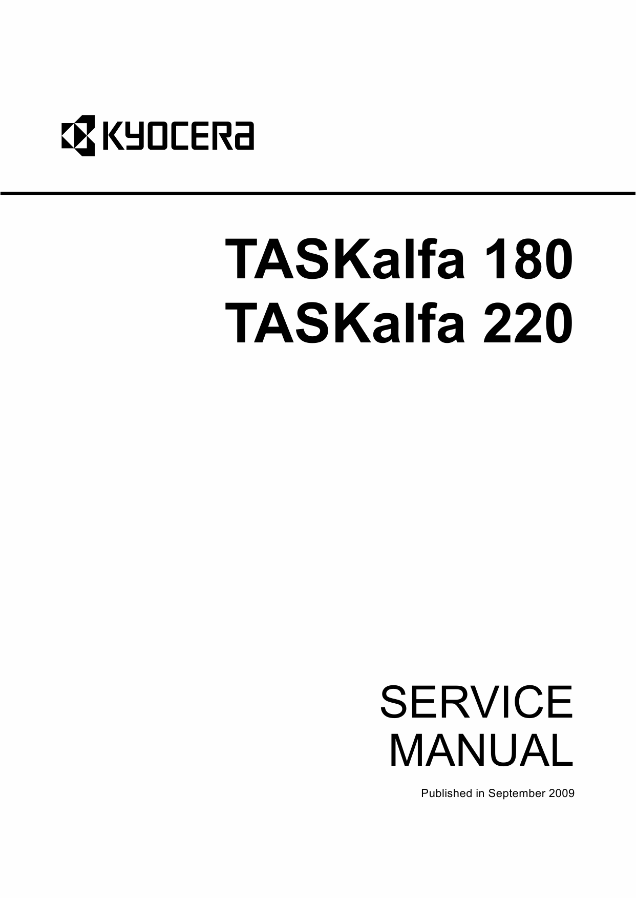 KYOCERA MFP TASKalfa-180 220 Parts and Service Manual-1